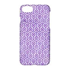 Hexagon1 White Marble & Purple Watercolor (r) Apple Iphone 8 Hardshell Case