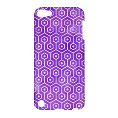 Hexagon1 White Marble & Purple Watercolor Apple Ipod Touch 5 Hardshell Case by trendistuff