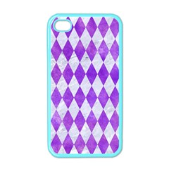 Diamond1 White Marble & Purple Watercolor Apple Iphone 4 Case (color) by trendistuff