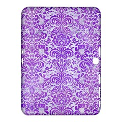 Damask2 White Marble & Purple Watercolor (r) Samsung Galaxy Tab 4 (10 1 ) Hardshell Case  by trendistuff