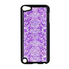 Damask2 White Marble & Purple Watercolor Apple Ipod Touch 5 Case (black) by trendistuff