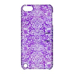 Damask2 White Marble & Purple Watercolor Apple Ipod Touch 5 Hardshell Case With Stand by trendistuff