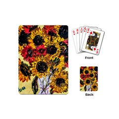 Sunflowers In A Scott House Playing Cards (mini)  by bestdesignintheworld