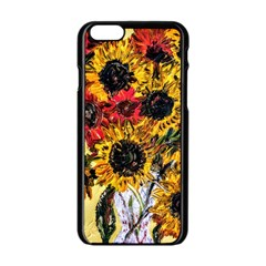 Sunflowers In A Scott House Apple Iphone 6/6s Black Enamel Case by bestdesignintheworld