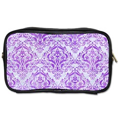Damask1 White Marble & Purple Watercolor (r) Toiletries Bags 2 Side by trendistuff