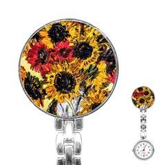 Sunflowers In A Scott House Stainless Steel Nurses Watch