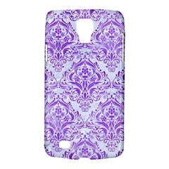 Damask1 White Marble & Purple Watercolor (r) Galaxy S4 Active
