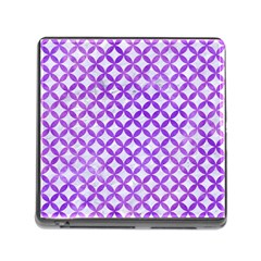 Circles3 White Marble & Purple Watercolor (r) Memory Card Reader (square) by trendistuff