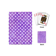 Circles3 White Marble & Purple Watercolor (r) Playing Cards (mini)  by trendistuff