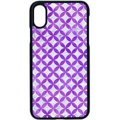 Circles3 White Marble & Purple Watercolor (r) Apple Iphone X Seamless Case (black)