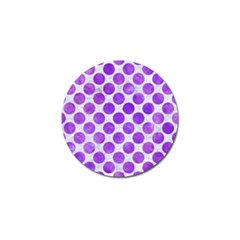 Circles2 White Marble & Purple Watercolor (r) Golf Ball Marker (10 Pack) by trendistuff