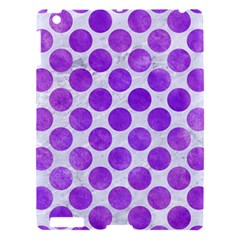 Circles2 White Marble & Purple Watercolor (r) Apple Ipad 3/4 Hardshell Case by trendistuff