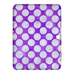 Circles2 White Marble & Purple Watercolor Samsung Galaxy Tab 4 (10 1 ) Hardshell Case  by trendistuff