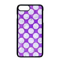 Circles2 White Marble & Purple Watercolor Apple Iphone 8 Plus Seamless Case (black)