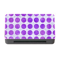 Circles1 White Marble & Purple Watercolor (r) Memory Card Reader With Cf by trendistuff