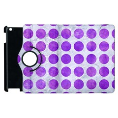 Circles1 White Marble & Purple Watercolor (r) Apple Ipad 3/4 Flip 360 Case