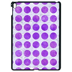 Circles1 White Marble & Purple Watercolor (r) Apple Ipad Pro 9 7   Black Seamless Case