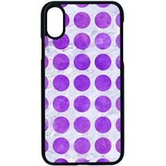 Circles1 White Marble & Purple Watercolor (r) Apple Iphone X Seamless Case (black)