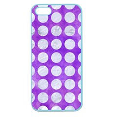 Circles1 White Marble & Purple Watercolor Apple Seamless Iphone 5 Case (color) by trendistuff