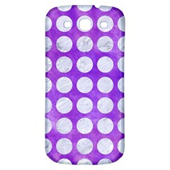 Circles1 White Marble & Purple Watercolor Samsung Galaxy S3 S Iii Classic Hardshell Back Case by trendistuff