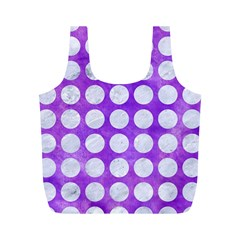 Circles1 White Marble & Purple Watercolor Full Print Recycle Bags (m)  by trendistuff