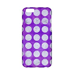 Circles1 White Marble & Purple Watercolor Apple Iphone 6/6s Hardshell Case by trendistuff