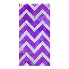 Chevron9 White Marble & Purple Watercolor Shower Curtain 36  X 72  (stall)  by trendistuff