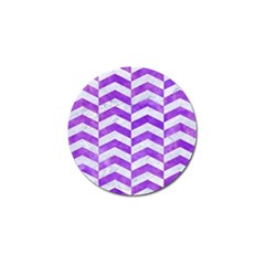Chevron2 White Marble & Purple Watercolor Golf Ball Marker (4 Pack) by trendistuff