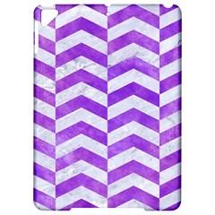 Chevron2 White Marble & Purple Watercolor Apple Ipad Pro 9 7   Hardshell Case by trendistuff