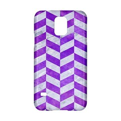 Chevron1 White Marble & Purple Watercolor Samsung Galaxy S5 Hardshell Case