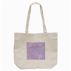 Brick2 White Marble & Purple Watercolor (r) Tote Bag (cream) by trendistuff