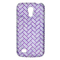 Brick2 White Marble & Purple Watercolor (r) Galaxy S4 Mini by trendistuff