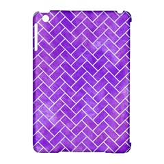 Brick2 White Marble & Purple Watercolor Apple Ipad Mini Hardshell Case (compatible With Smart Cover) by trendistuff