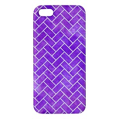 Brick2 White Marble & Purple Watercolor Iphone 5s/ Se Premium Hardshell Case by trendistuff