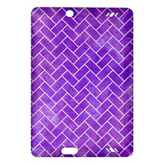 Brick2 White Marble & Purple Watercolor Amazon Kindle Fire Hd (2013) Hardshell Case by trendistuff