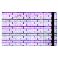 Brick1 White Marble & Purple Watercolor (r) Apple Ipad 3/4 Flip Case by trendistuff