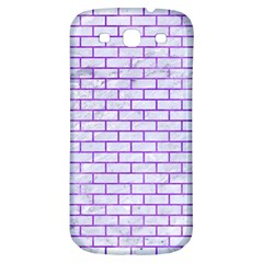 Brick1 White Marble & Purple Watercolor (r) Samsung Galaxy S3 S Iii Classic Hardshell Back Case by trendistuff