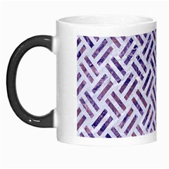 Woven2 White Marble & Purple Marble (r) Morph Mugs by trendistuff