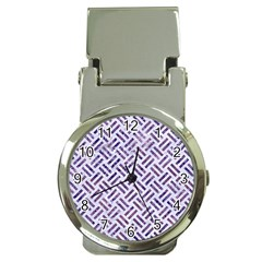 Woven2 White Marble & Purple Marble (r) Money Clip Watches by trendistuff