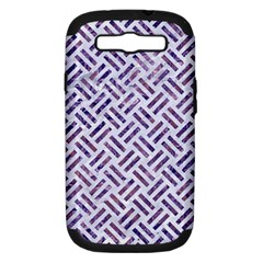 Woven2 White Marble & Purple Marble (r) Samsung Galaxy S Iii Hardshell Case (pc+silicone) by trendistuff