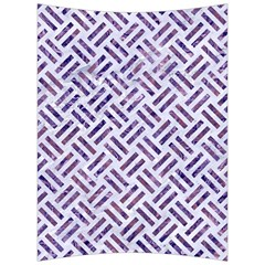 Woven2 White Marble & Purple Marble (r) Back Support Cushion by trendistuff