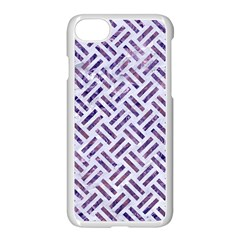 Woven2 White Marble & Purple Marble (r) Apple Iphone 8 Seamless Case (white)
