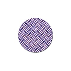 Woven2 White Marble & Purple Marble Golf Ball Marker (4 Pack) by trendistuff
