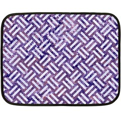 Woven2 White Marble & Purple Marble Fleece Blanket (mini) by trendistuff