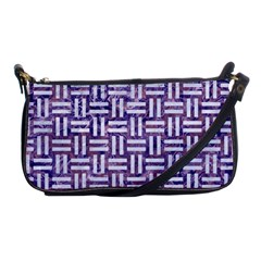Woven1 White Marble & Purple Marble Shoulder Clutch Bags by trendistuff
