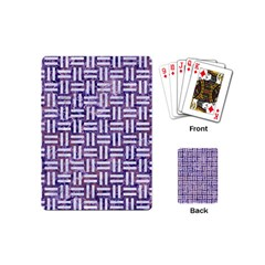 Woven1 White Marble & Purple Marble Playing Cards (mini)  by trendistuff