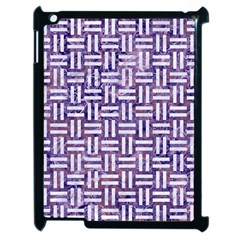 Woven1 White Marble & Purple Marble Apple Ipad 2 Case (black) by trendistuff