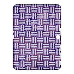 Woven1 White Marble & Purple Marble Samsung Galaxy Tab 4 (10 1 ) Hardshell Case  by trendistuff
