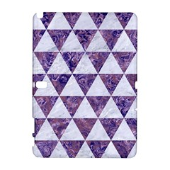 Triangle3 White Marble & Purple Marble Galaxy Note 1 by trendistuff
