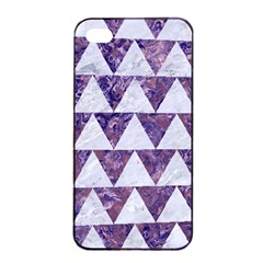 Triangle2 White Marble & Purple Marble Apple Iphone 4/4s Seamless Case (black)